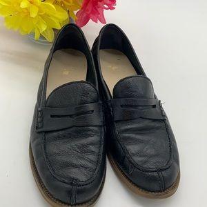 Franco Sarto Black Leather Penny Loafer Sz 8.5